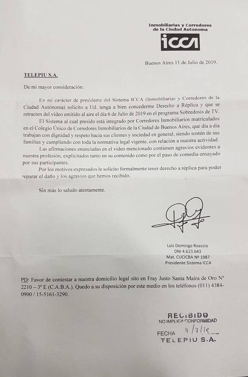 Carta Repudio C5N - ICCA